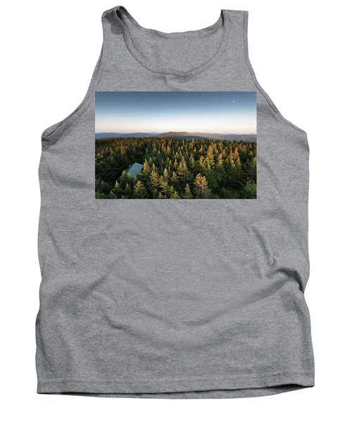 Balsam Lake Mountain Sunset Moon Tank Top