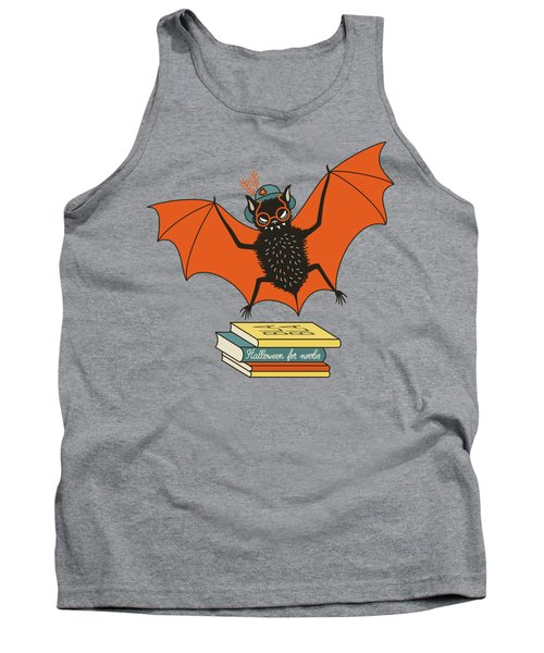Bat Granny Librarian Book Lover  Tank Top
