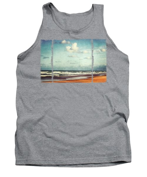 Beach - A Photo Painting Tank Top