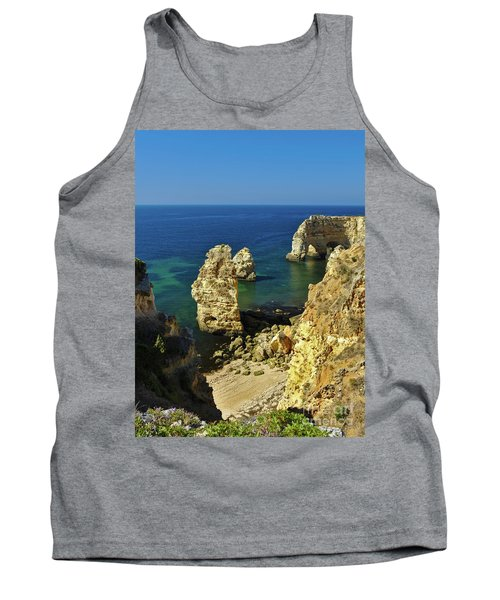Beautiful Marinha Beach From The Cliffs Tank Top
