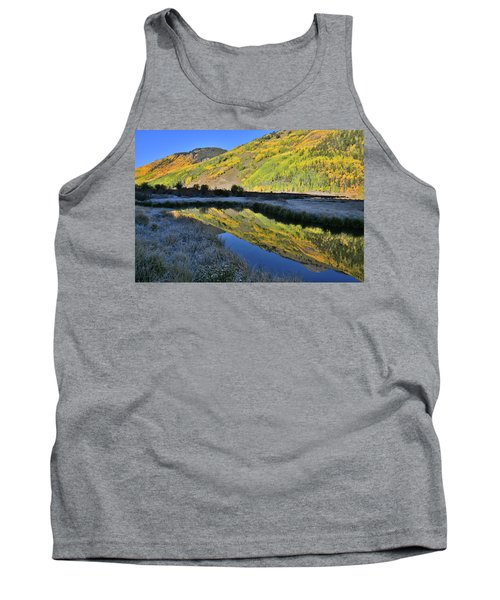 Beautiful Mirror Image On Crystal Lake Tank Top