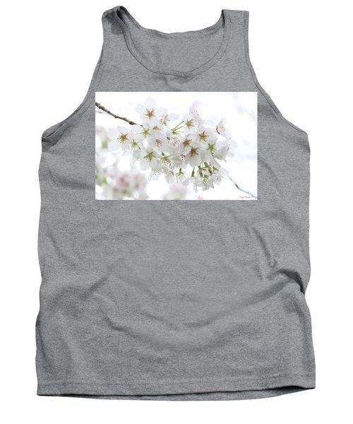 Beautiful White Cherry Blossoms Tank Top