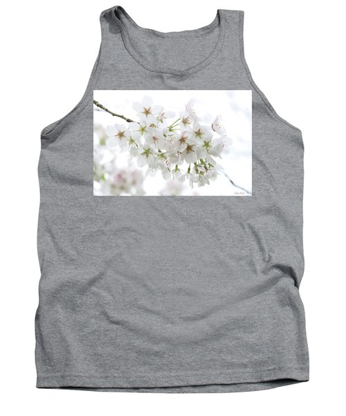 Beautiful White Cherry Blossoms Tank Top