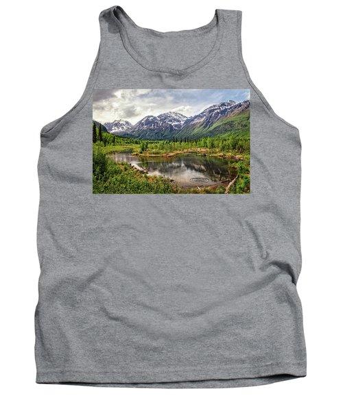 Beaver Pond, Eagle River Ak Tank Top
