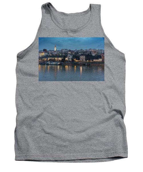 Belgrade Skyline And Sava River Tank Top