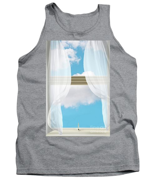 Billowing Voile Curtains Tank Top