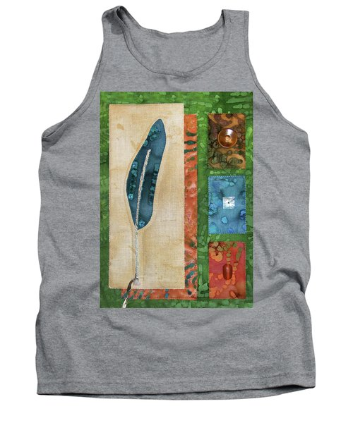 Blue Feather Tank Top