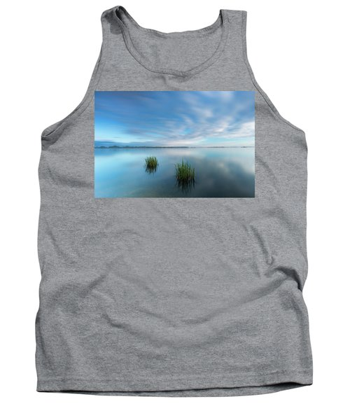 Blue Whirlpool Tank Top
