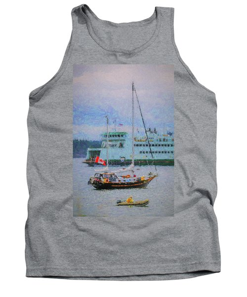 Boats In Puget Sound Tank Top