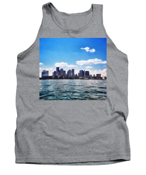 Boston Skyline From Boston Harbor  Tank Top