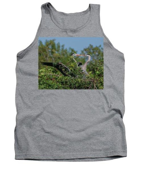 Breeding Herons Tank Top