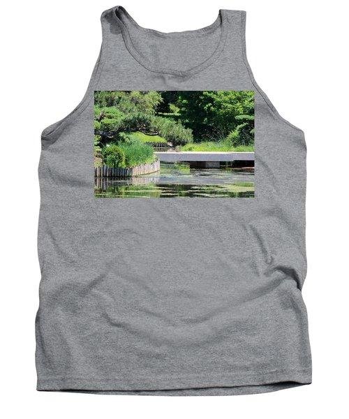 Bridge Over Pond In Japanese Garden Tank Top