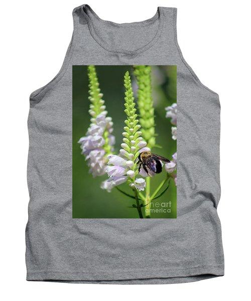 Bumblebee On Obedient Flower Tank Top