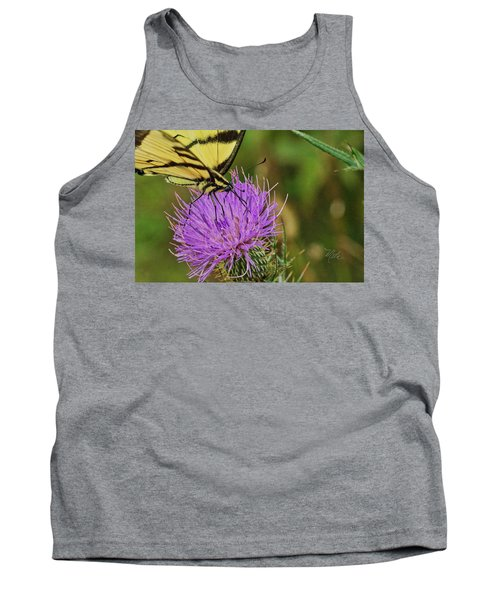 Butterfly On Bull Thistle Tank Top