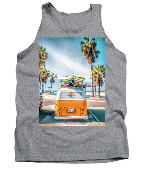 California Surfer Vw Camper Van Tank Top