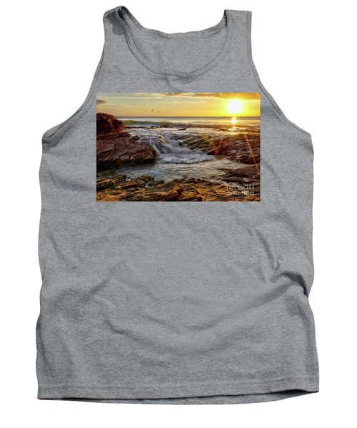 Cascading Sunset At Crystal Cove Tank Top
