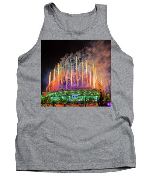 Cleveland Baseball Fireworks Awesome Tank Top