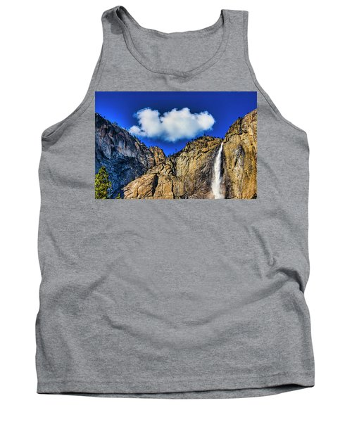 Clouds Abover Upper Yosemite Fall Tank Top