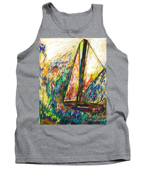 Colorful Day On The Water Tank Top