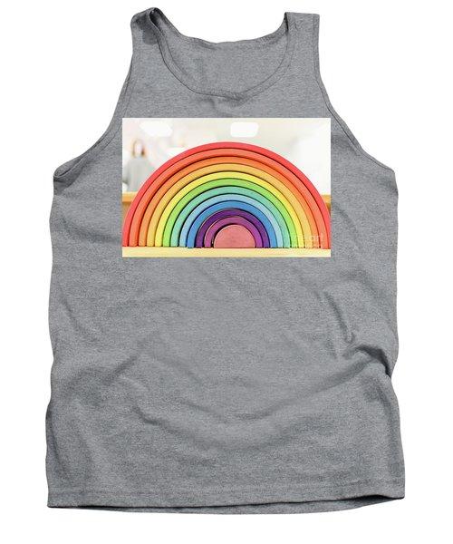 Colorful Waldorf Wooden Rainbow In A Montessori Teaching Pedagogy Classroom. Tank Top
