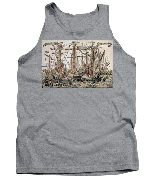 Copper-engraving The Battle Of Zonchio 1499. Tank Top