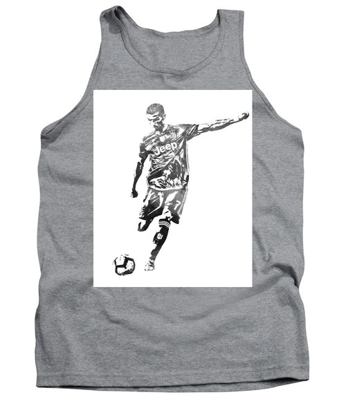 Cristiano Ronaldo Juventus Water Color Pixel Art 2 Tank Top