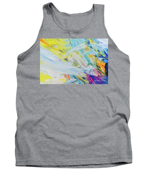Detail Of Brush Strokes Of Random Colors To Use As Background An Tank Top