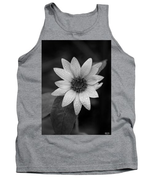 Dewdrops On A Sunflower Tank Top