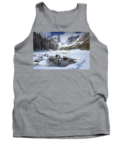 Dream Lake Winter Reflections  Tank Top