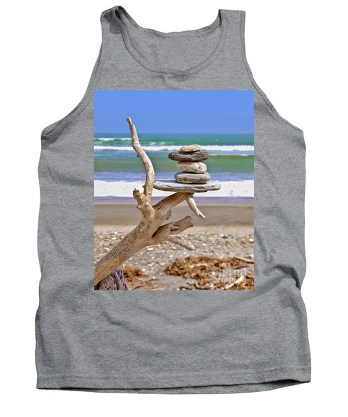Drift Wood And Pebbles Tank Top
