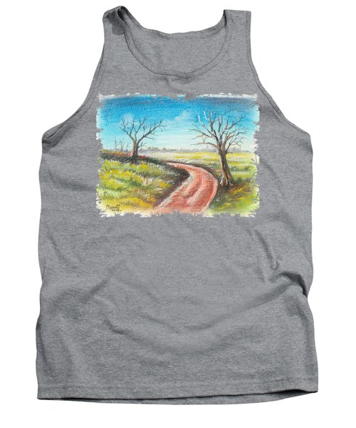 Dry Trees And A Road Tank Top