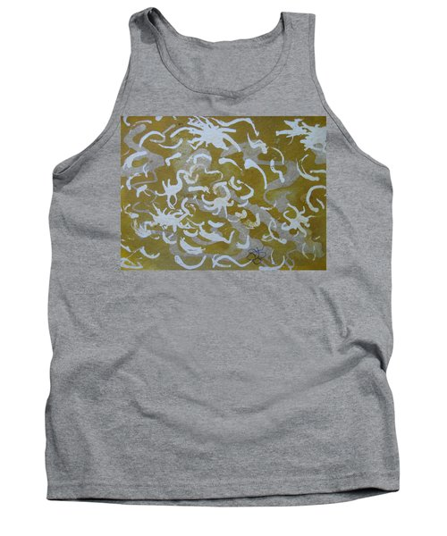 Dull Yellow With Masking Fluid Tank Top
