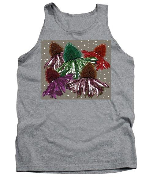 Echinacea Flowers Dance Tank Top