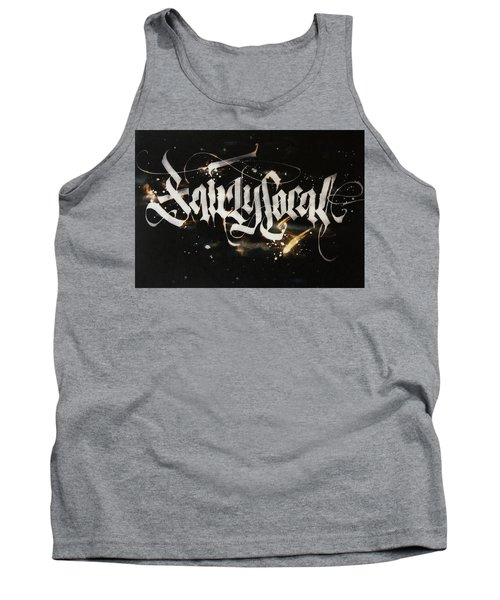 Fairly Local. Calligraphic Abstract Tank Top