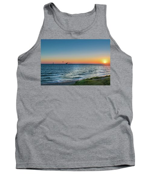 Ferry Going Into Sunset Tank Top