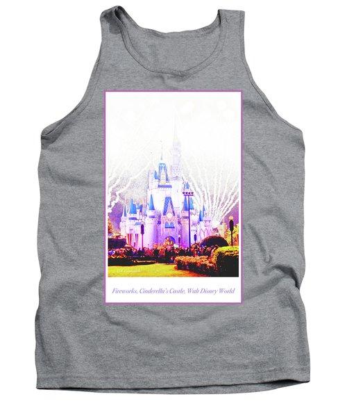 Fireworks, Cinderella's Castle, Magic Kingdom, Walt Disney World Tank Top