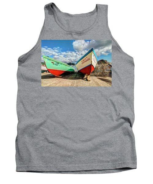 Fishing Boats In Frenchtown Tank Top