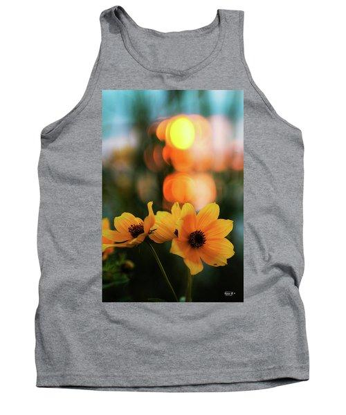 Flowery Bokeh Sunset Tank Top
