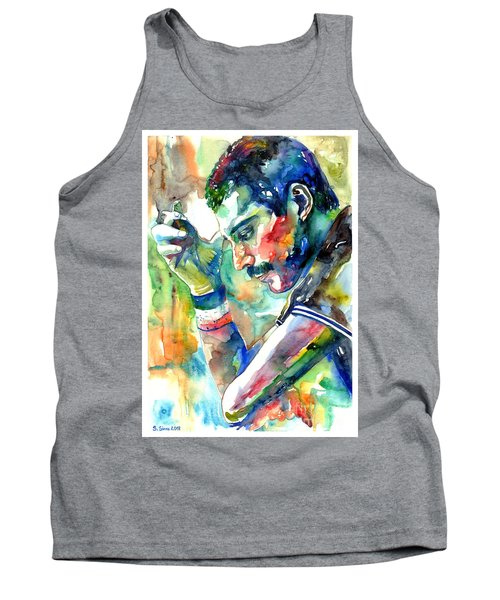 Freddie Mercury With Cigarette Tank Top