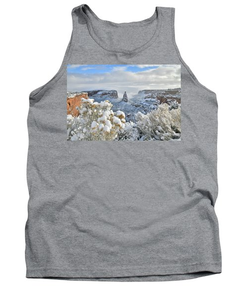 Fresh Snow At Independence Canyon Tank Top