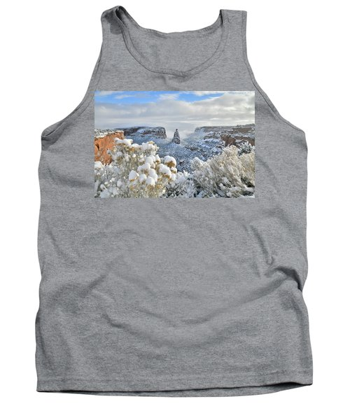 Fresh Snow At Independence Canyon Tank Top
