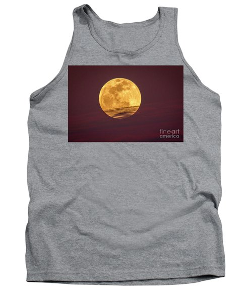 Full Moon Above Clouds Tank Top
