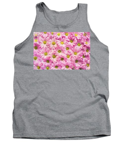Full Of Pink Flowers Tank Top