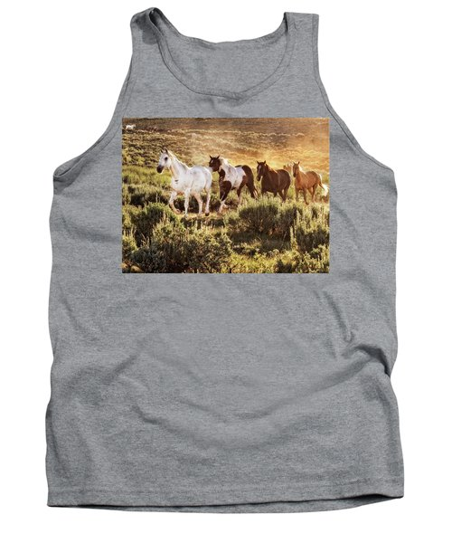 Galloping Down The Mountain Tank Top