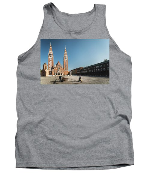 Garbage Cleaners On Dom Square In Szeged  Tank Top