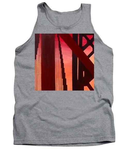 Golden Gate Art Deco Masterpiece Tank Top