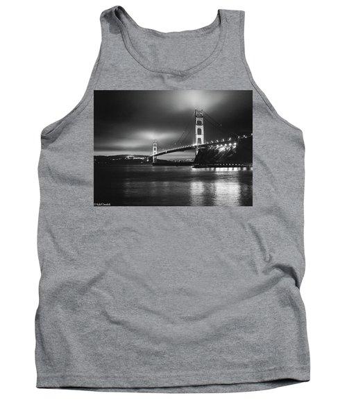 Golden Gate Bridge B/w Tank Top