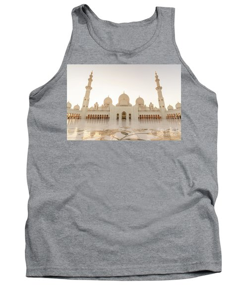 Grand Mosque In Abu Dhabi At Sunset Tank Top