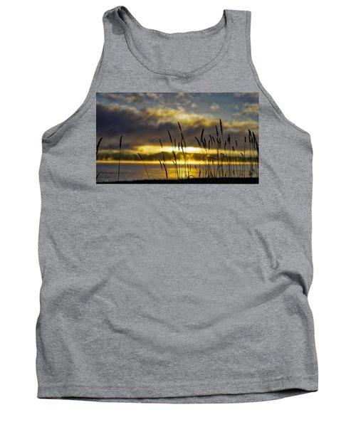 Grassy Shoreline Sunrise Tank Top