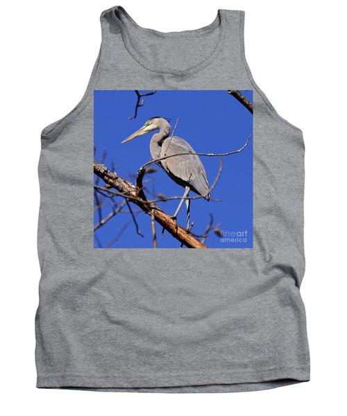 Great Blue Heron Strikes A Pose Tank Top